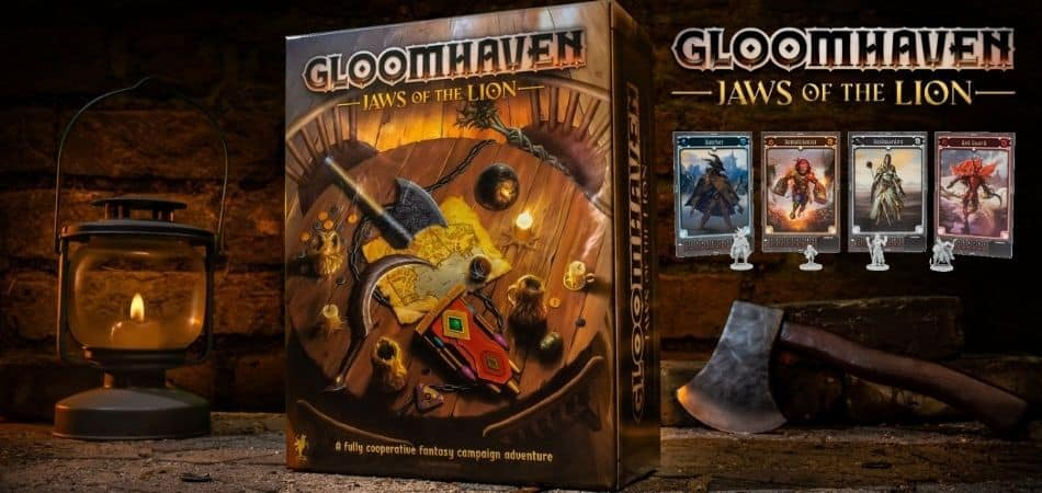Gloomhaven: Jaws of the Lion Board Game Box and Cards
