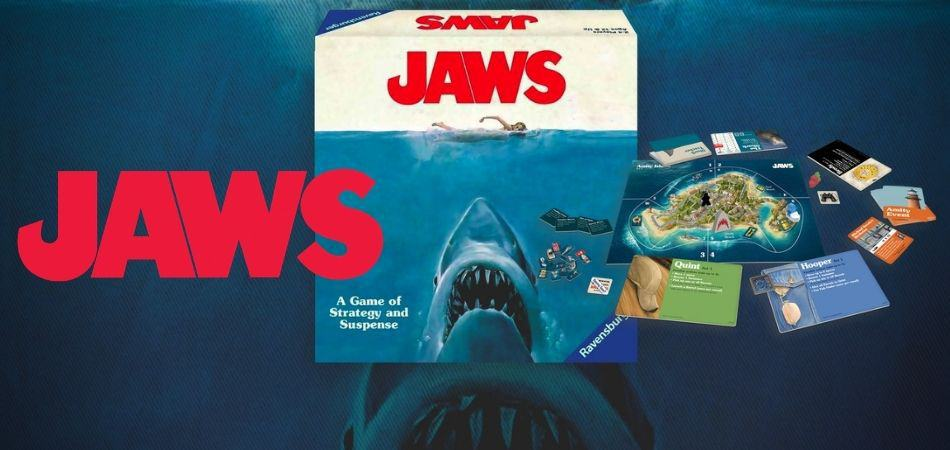 Jaws Board Game Box and Components