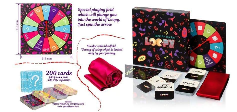 Loopy: Date Night Box Board Game Box Board and Components