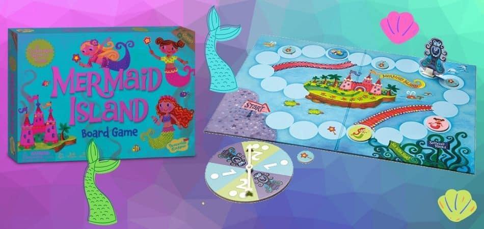 Mermaid Island Board Game Box and Board