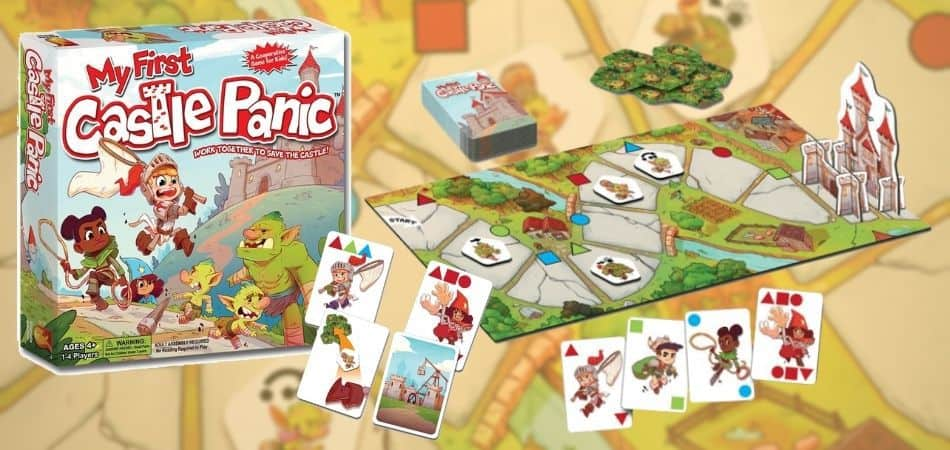 My First Castle Panic Board Game Box and Board