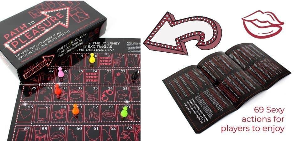 Path to Pleasure Board Game Box and Board