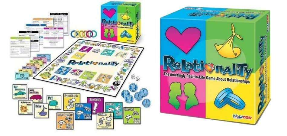 Relationality Board Game Box and Board