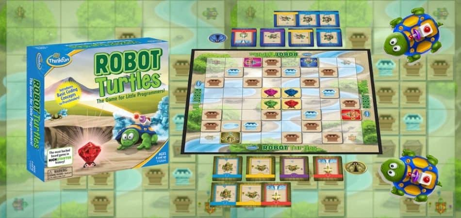 Robot Turtles Board Game Box and Board