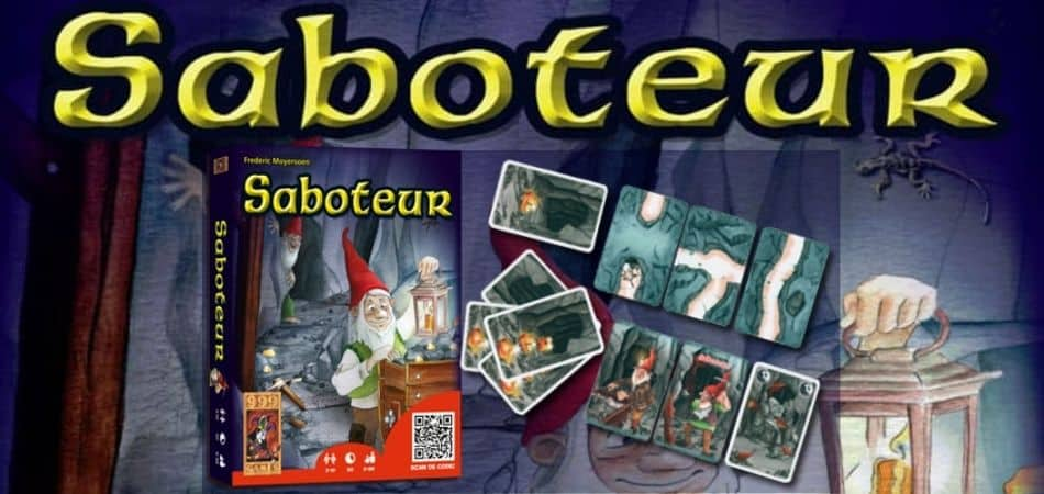 Saboteur Board Game Box and Cards