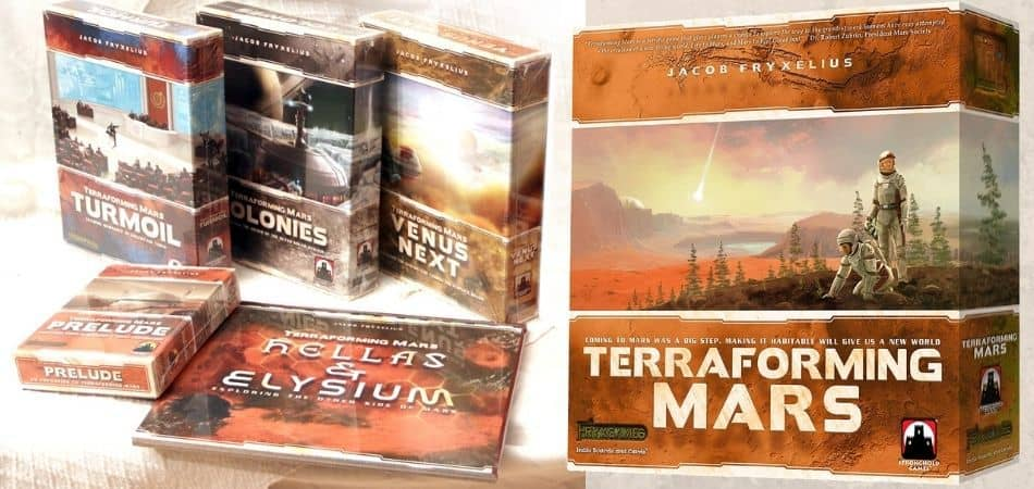 Terraforming Mars Board Game Expansion Boxes