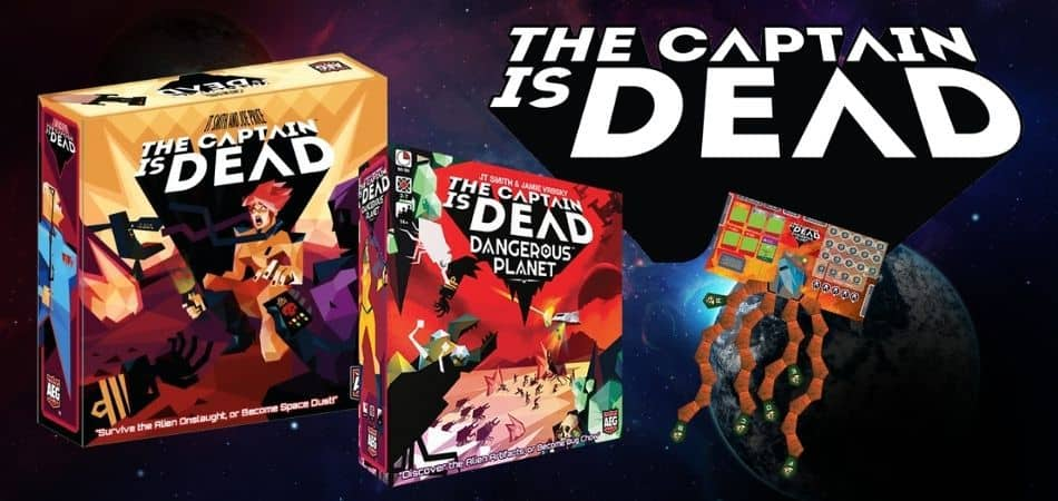 The Captain is Dead Board Game and Dangerous Planet Expansion Boxes