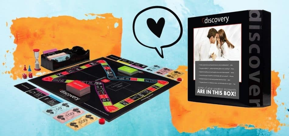 The Discovery Game: Board Game For a Married Couple Box and Board