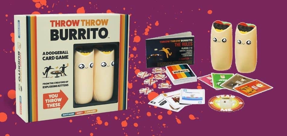 Throw Throw Burrito Board Game Box and Components