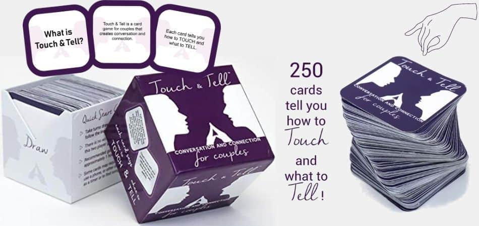 Touch & Tell Board Game Box and Cards