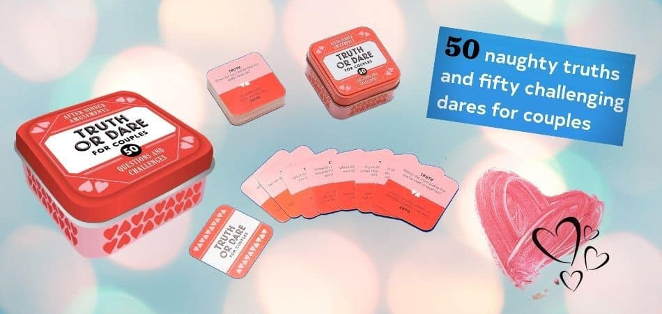 Truth or Dare for Couples Game tin and cards