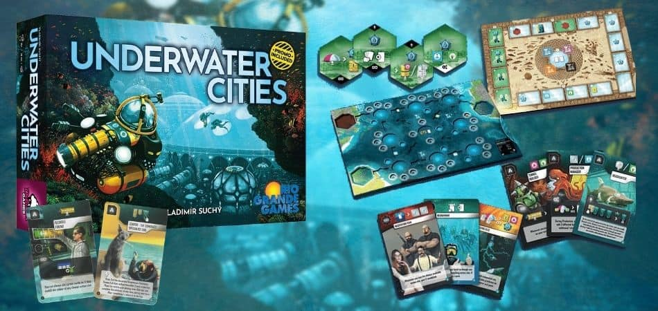 Underwater Cities Board Game Box and Components