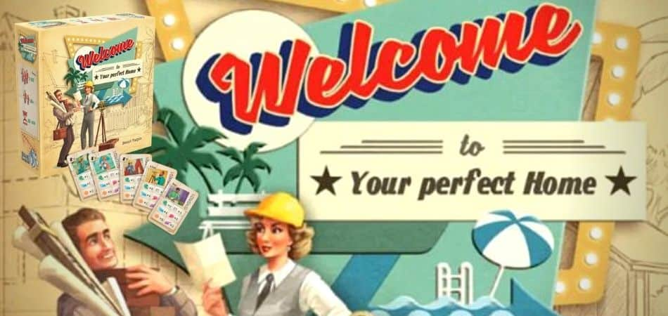 Welcome to... Your Perfect Home Board Game Art and Box