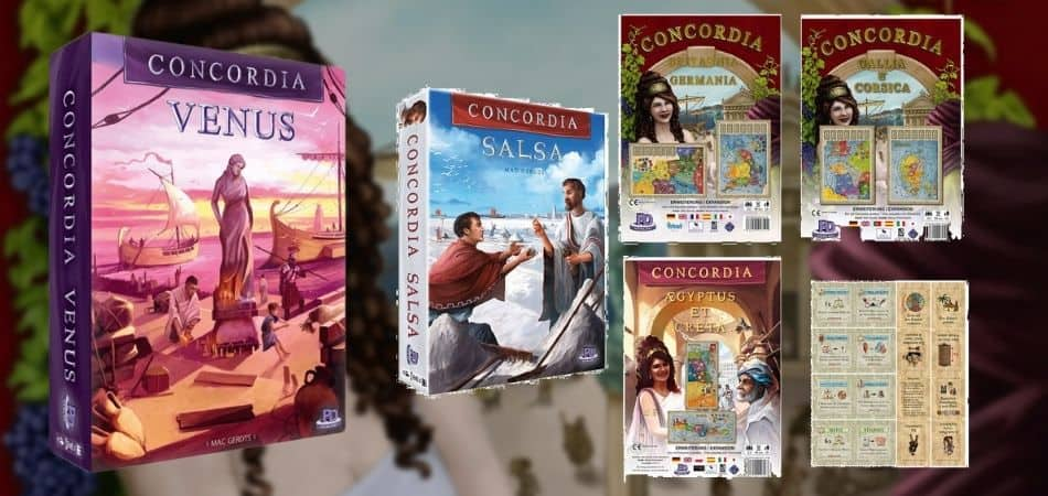 Concordia Board Game Expansion Boxes