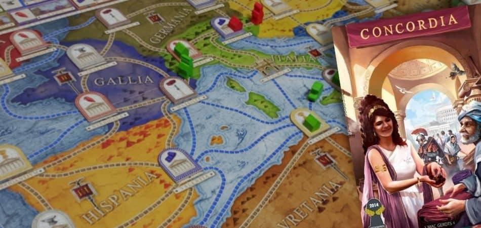 Concordia Board Game Board Setup and Box