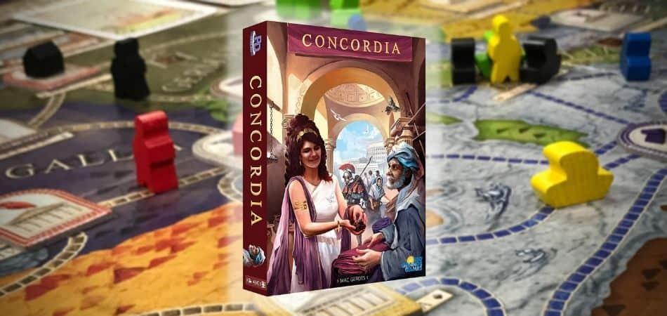 Concordia Board Game Board and Box