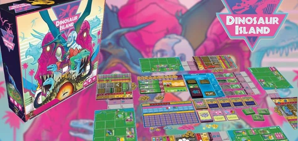 Dinosaur Island Board Game Box and Setup