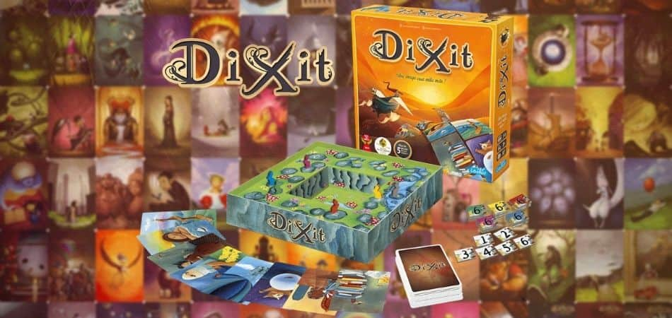 Dixit Board Game box and Components