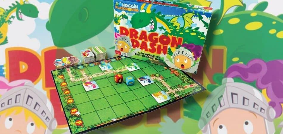 Dragon Dash Board Game Box and Board