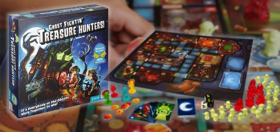 Ghost Fightin' Treasure Hunters Board Game Box and Board