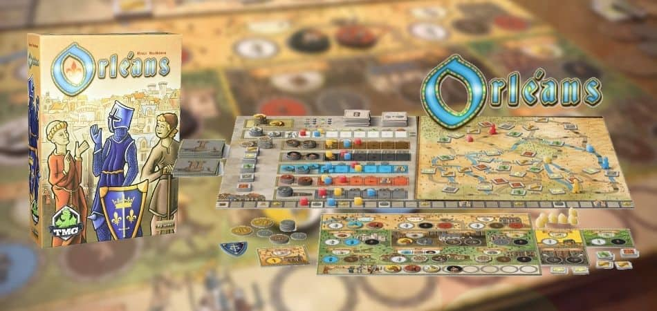 Orleans Board Game Box and Components