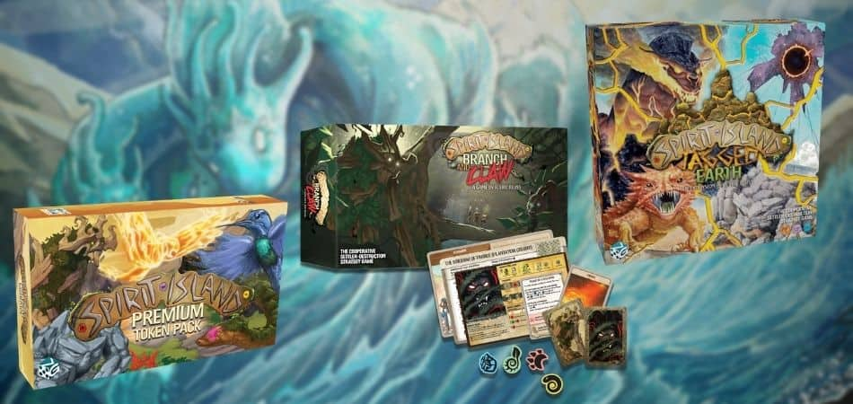 Spirit Island Board Game Expansions Boxes
