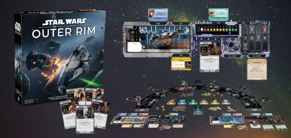 Star Wars: Outer Rim Board Game Box and Components