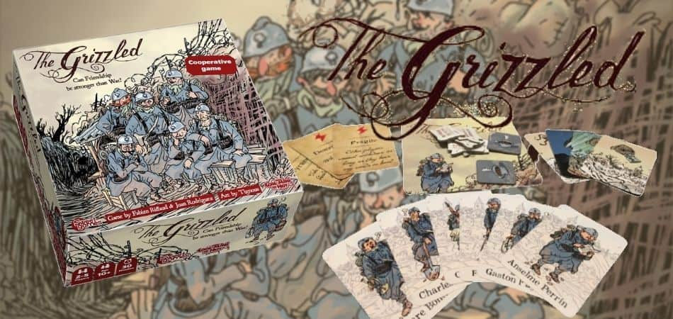 The Grizzled Board Game Box and Cards