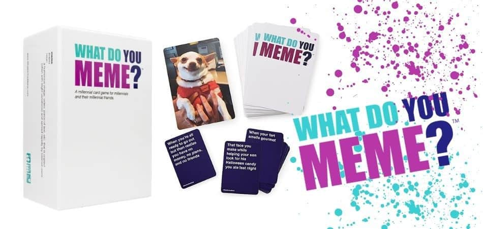 What Do You Meme? Board Game Box and Card Examples