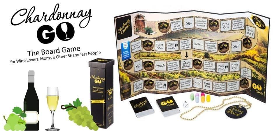Chardonnay Go Board Game Box and Board