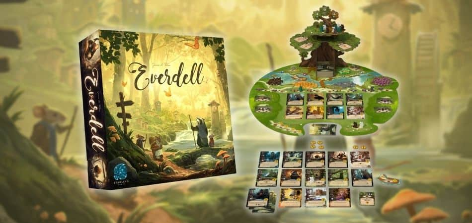 Everdell Board Game Box and Board