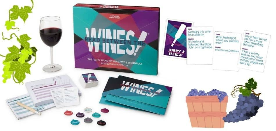 Read Between the Wines Board Game Box and Components