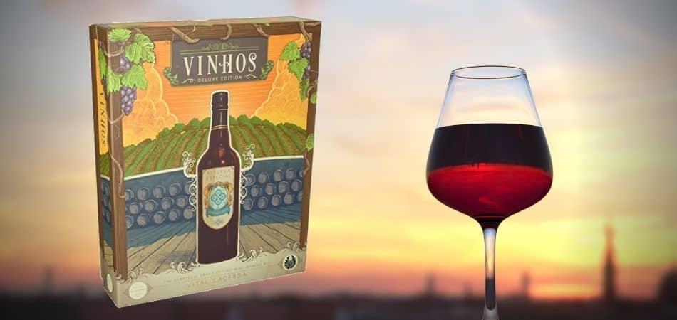 Vinhos Board Game Box and Wine Glass