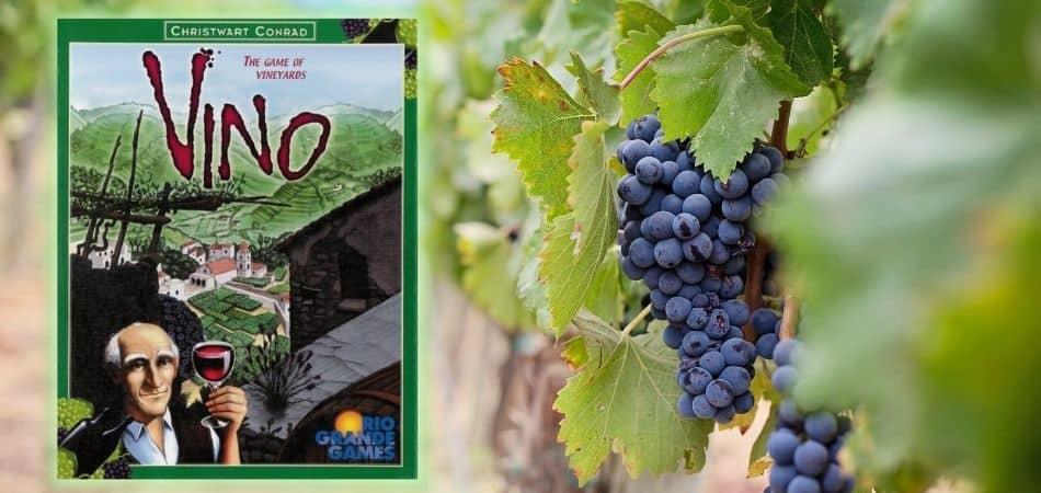Vino Board Game Box and Grapes