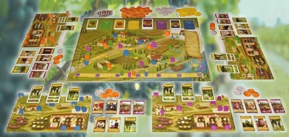 Viticulture Essential Edition Board Game Board Setup