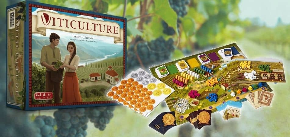 Viticulture Essential Edition Board Game Box and Components