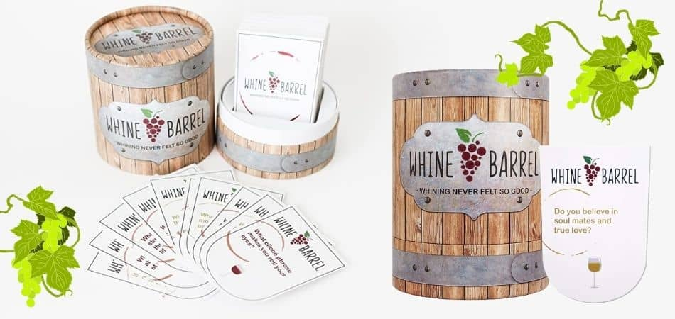 Whine Barrel Board Game Box and Cards
