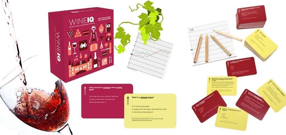 Wine IQ Board Game Box and Components