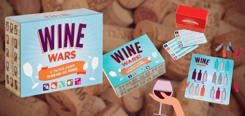 Wine Wars Board Game Box and Components