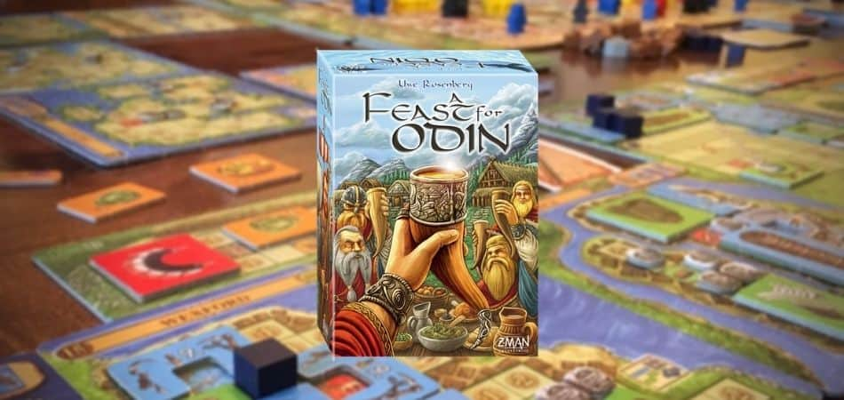 A Feast for Odin Board Game Box and Game Table