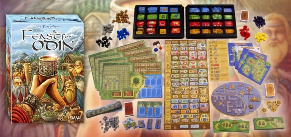 A Feast for Odin Board Game Components and Box