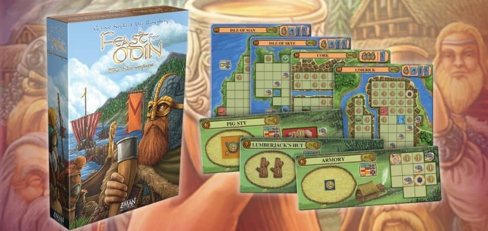 A Feast for Odin Board Game The Norwegians Expansion Box and Components