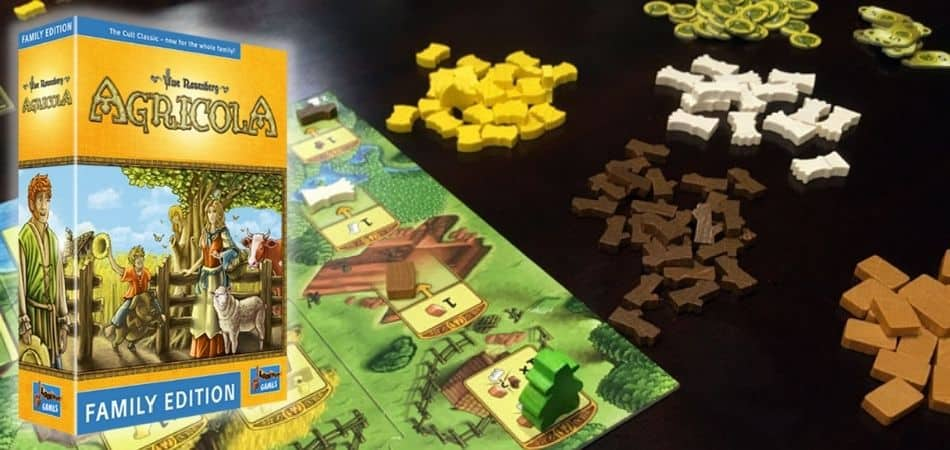Agricola: Family Edition Board Game Box and Board Setup