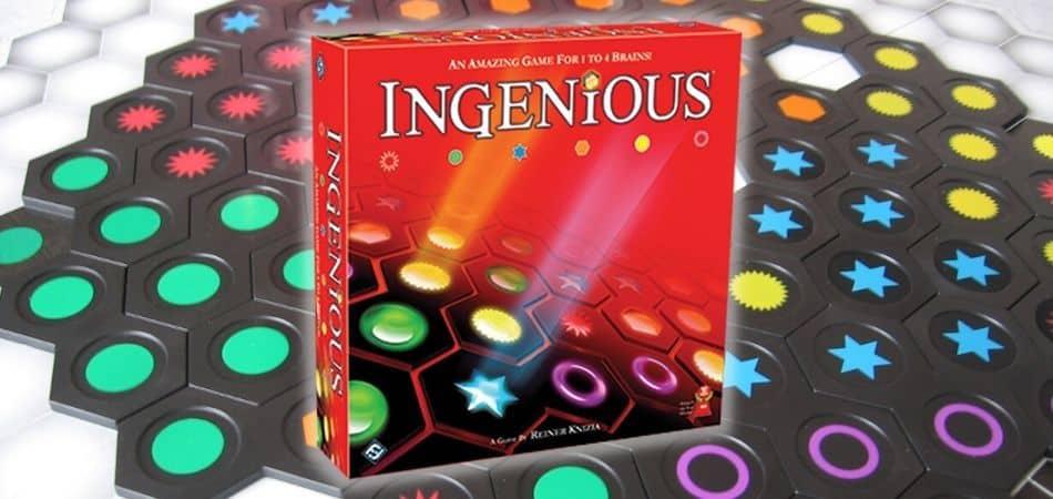Ingenious Board Game Box and Board