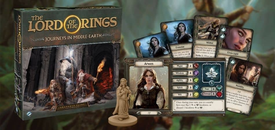Journeys in Middle-Earth Shadowed Paths Expansion Box and Components