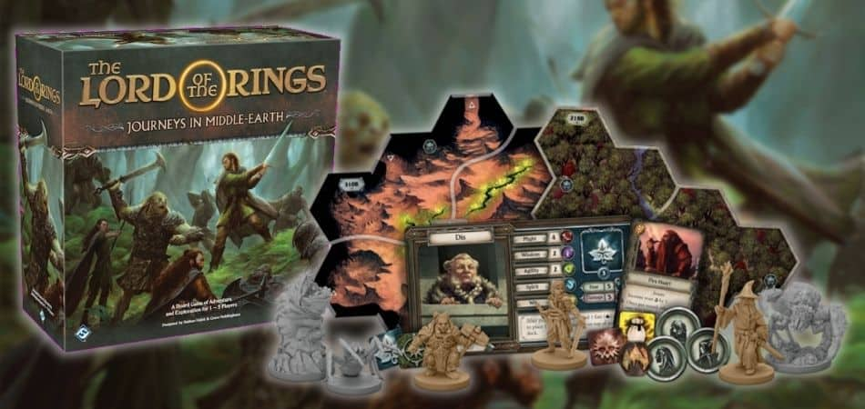 Journeys in Middle-Earth board game box and components