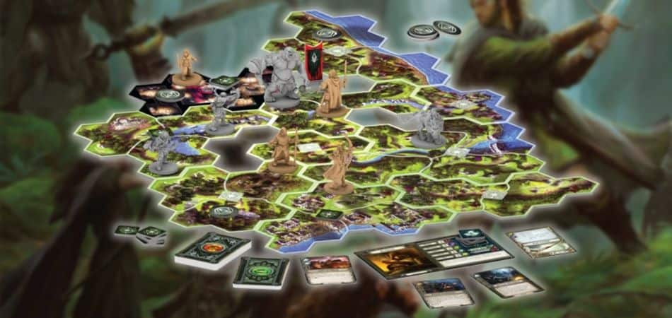 Journeys in Middle-Earth Board Game setup