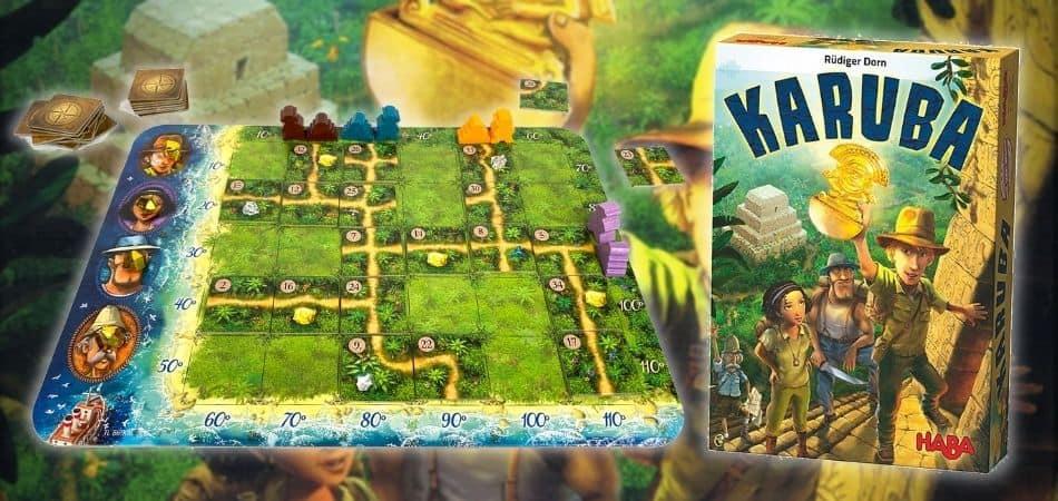 Karuba Board Game Box and Board