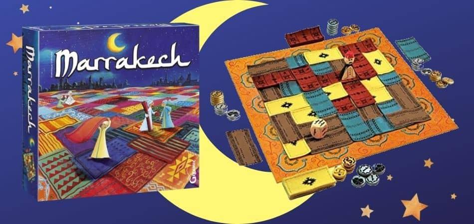 Marrakech Board Game Box and Board Setup