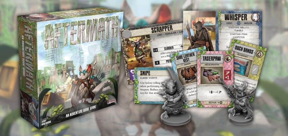 Aftermath Adventure Board Game Box and Components